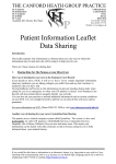 Data Sharing Leaflet - Canford Heath Group Practice
