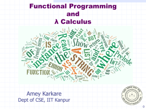 Introduction to Lambda Calculus - CSE IITK