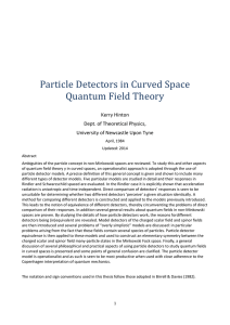 Particle Detectors in Curved Space Quantum Field Theory