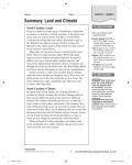 Summary: Land and Climate