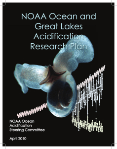 NOAA Ocean and Great Lakes Acidification Research Plan