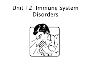 Unt 12 Immune System Disorders Powerpoint