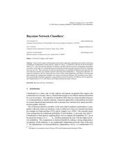 Bayesian Network Classifiers