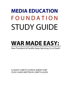 War Made Easy - Media Education Foundation