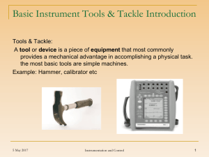 Basic Instrument Tools.