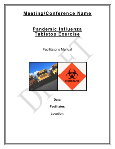 Pandemic Influenza - Facilitator`s Manual