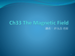 Ch33 The Magnetic Field