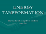 ENERGY TANSFORMATION