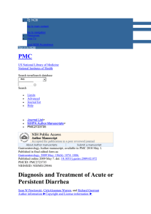 Diagnosis and treatment of acute or persistent