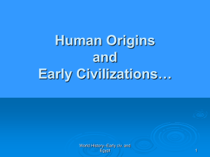 World History—Early Civ. And Egypt