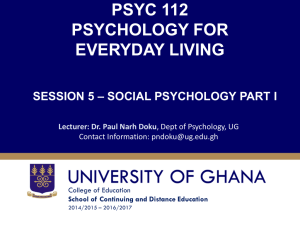 session five- social psychology part one
