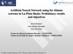 Artificial Neural Network using for climate extreme in La