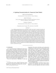 A Lightning Parameterization for Numerical Cloud Models - storm-t