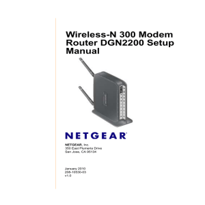 Wireless-N 300 Modem Router DGN2200 Setup Manual