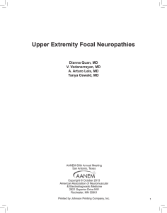 Upper Extremity Focal Neuropathies
