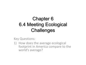 Chapter 6 6.4 Meeting Ecological Challenges