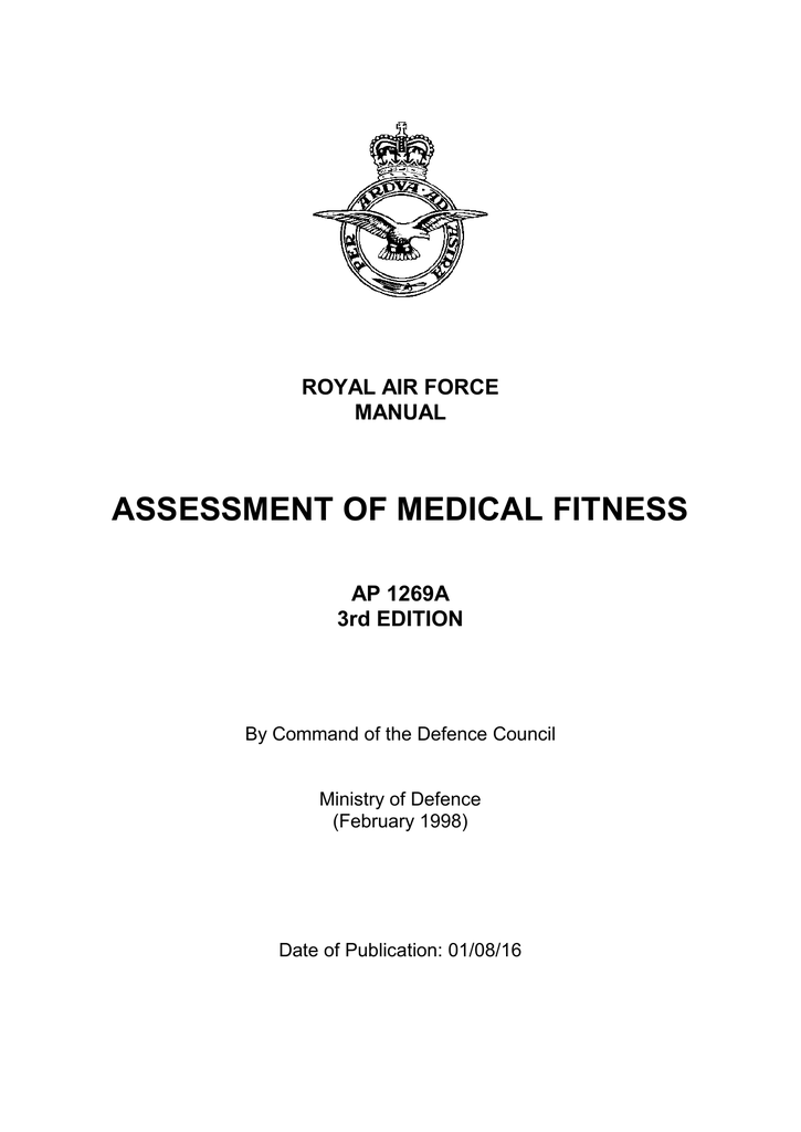 cef3170fef8 Royal Air Force Manual of Medical Fitness