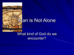 Man is Not Alone - St John in the Wilderness Adult Education and