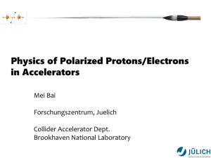 Physics of Polarized Protons/Electrons in Accelerators