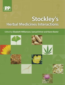 Stockley`s Herbal Medicine`s Interactions