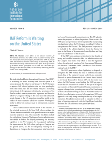 IMF Reform Is Waiting on the United States