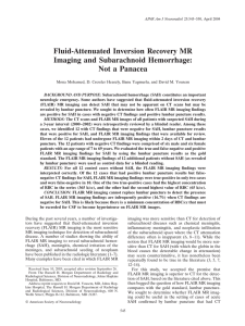Fluid-Attenuated Inversion Recovery MR Imaging and Subarachnoid
