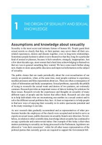 THE ORIGiN OF SEXUALITY AND SEXUAL