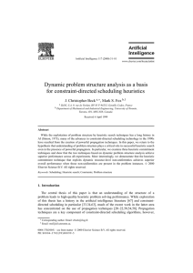 Dynamic problem structure analysis as a basis for constraint