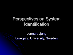 Perspectives on System Identification