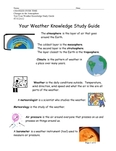 Your Weather Knowledge Study Guide