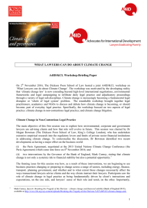 WHAT LAWYERS CAN DO ABOUT CLIMATE CHANGE A4ID/KCL