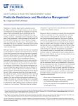 Pesticide Resistance and Resistance Management1