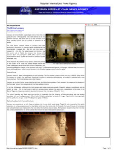 The Mythical Lamassu - Assyrian International News Agency