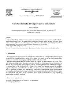 Curvature formulas for implicit curves and surfaces
