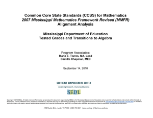 Common Core State Standards (CCSS) for Mathematics