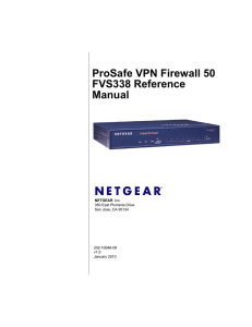 ProSafe VPN Firewall 50 FVS338 Reference Manual