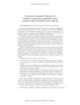 Research statement: Inference of human-computation