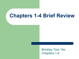 14e Chapter 01-04 Quick Review