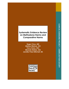 Systematic Evidence Review on Methadone Harms and