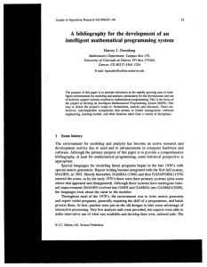 A bibliography for the development of an intelligent mathematical