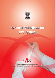 National Guidelines for HIV Testing