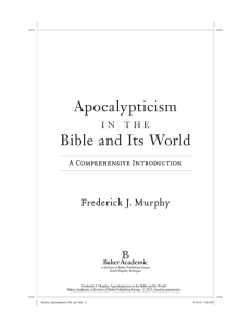 Apocalypticism Bible and Its World