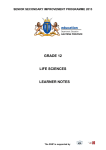 grade 12 life sciences learner notes