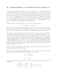 Approximation - Least squares method