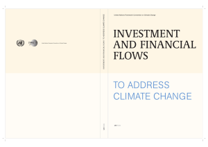 investment and financial flows to address climate change