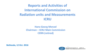 Reports and Activities of International Commission on Radiation