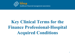 Key Clinical Terms for the Finance Professional