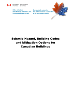Seismic Hazard, Building Codes and Mitigation Options for