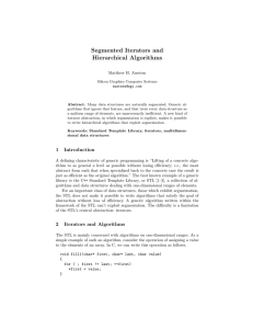 Segmented Iterators and Hierarchical Algorithms