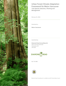 Urban Forest Climate Adaptation Framework for Metro Vancouver